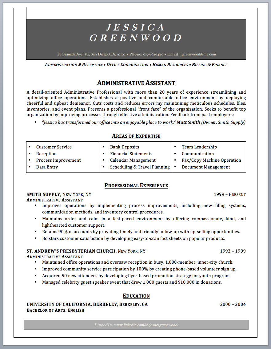 administrative assistant resume sample writing guide administrative assistant resume sample