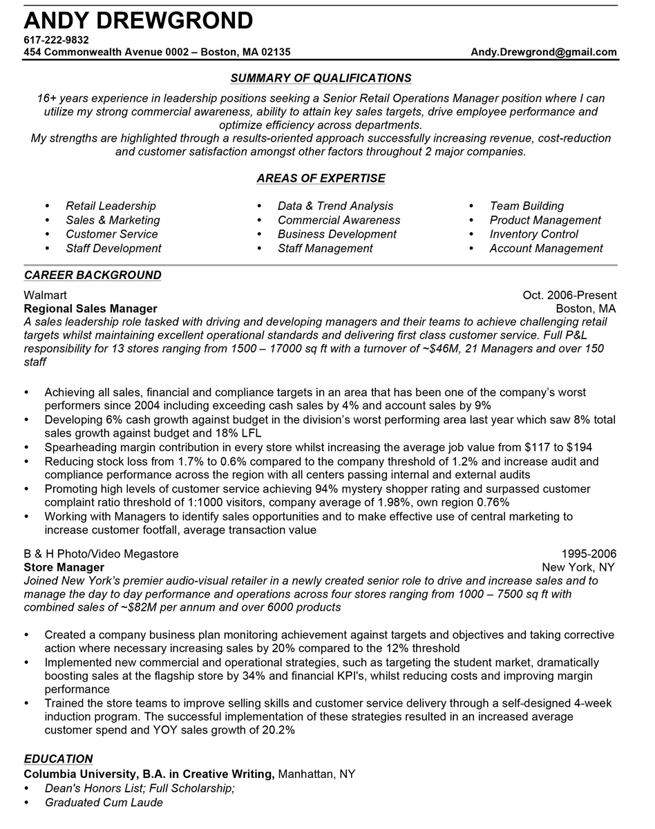 Sales manager resume manager resume example altavistaventures Image collections
